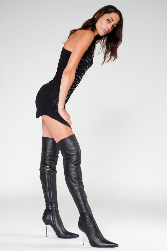 Arollo Leather Heeled Boots AROLLO_011-1