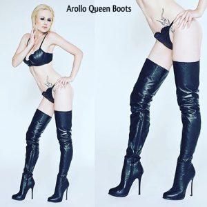 AROLLO Lange Overknee High Heel Stiefel Queen